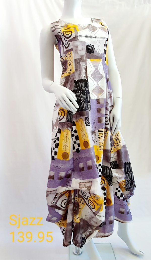 Sjazz, zomerjurk, lange jurk