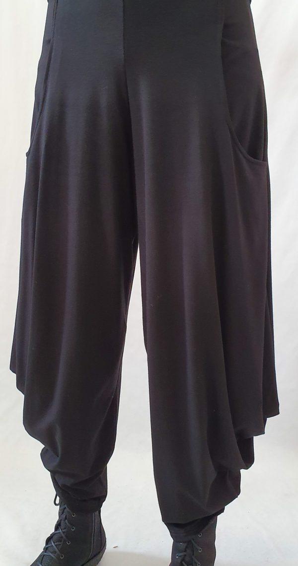 Tricot broek, zwarte tricot broek, makkelijke broek, broek van Sjàzz