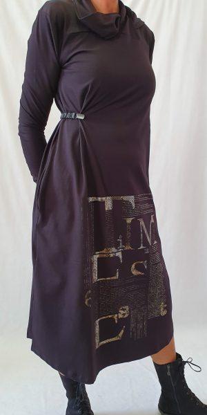 Jurk Nör, najaar collectie 2019 Nör, Nör jurk, Tijgerprint jurk,