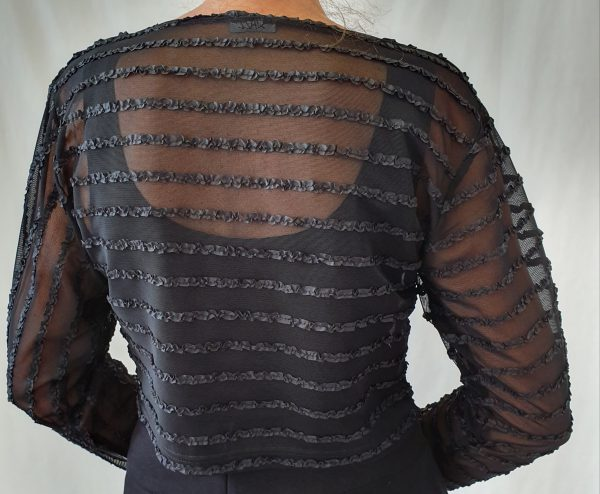 Sjàzz truitje, zwarte kleding, kleding feestdagen, aparte zwarte trui,
