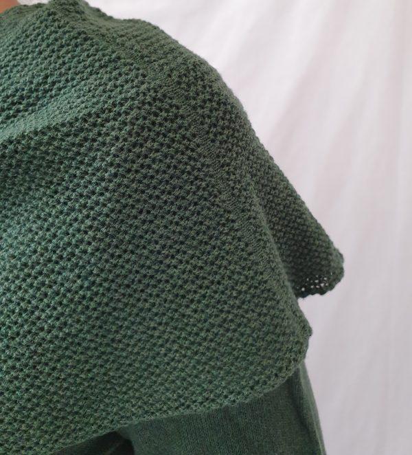 tuniek van Heart bij Sjàzz Design, groen tuniek, a-lijn tuniek