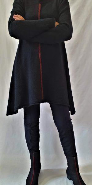 Tuniek, zwarte tuniek, Rimini bij sjàzz, najaarscollectie Rimini,