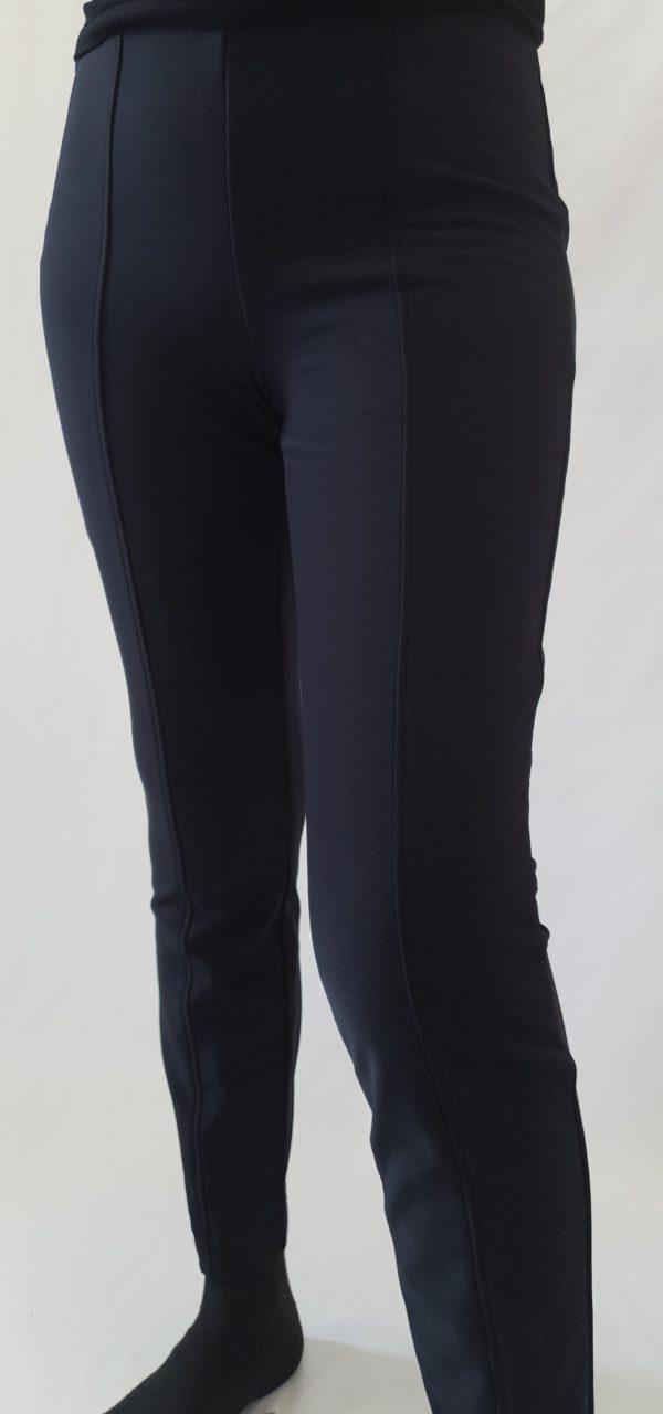 Broek van Stehmann, zwarte broek zonder rits, zwarte legging/ broek, Stehmann bij sjàzz