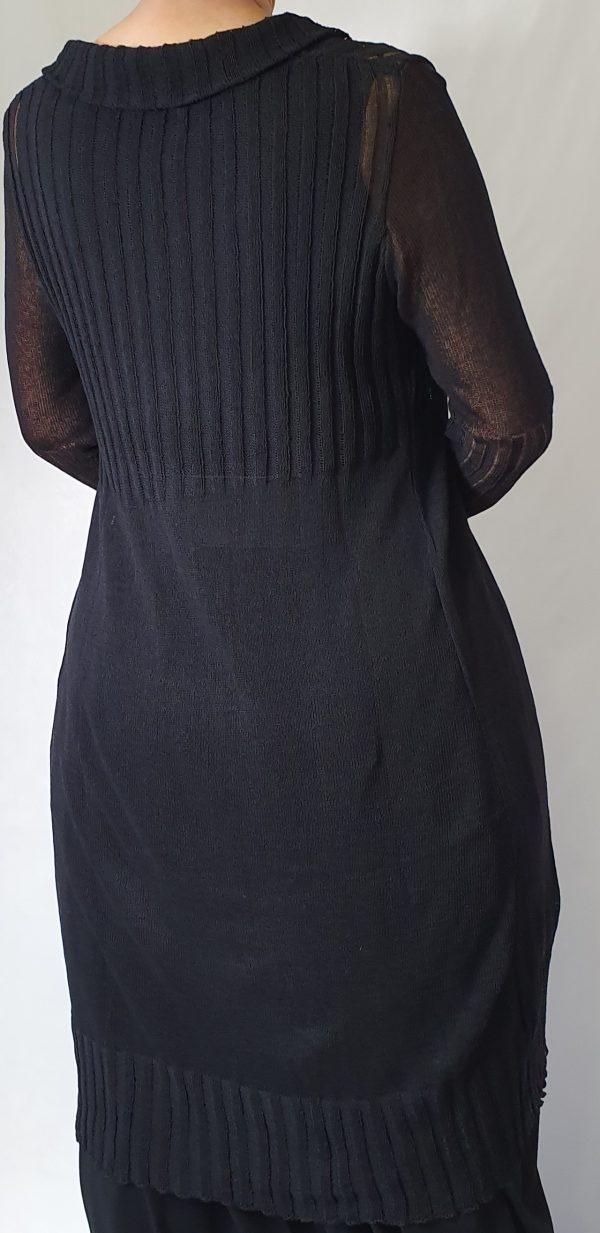 rimini vest, sjazz design, zwart lang vest;a