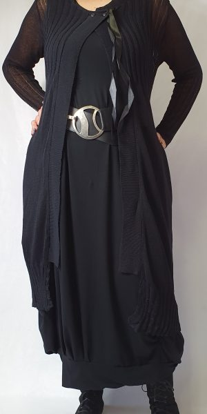 rimini vest, sjazz design, zwart lang vest;