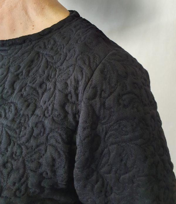 apart zwart vest, lang zwart vest, prachtig vest van Sjàzz,