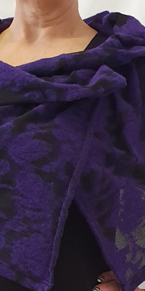 Sjàzz Roosendaal, cape, paarse cape