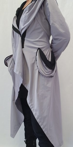 Aparte zomerjas, Grote maten zomerjas, katoenen zomerjas, Xenia Design, Xenia Design bij Sjazz, Zomerjas, zwart witte zomerjas