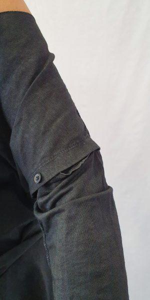 Antraciet kleurige Long Sleeve van een heerlijke kwaliteit zomerkatoen