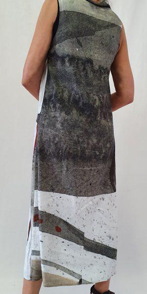 Prachtige linnen zomerjurk met print van Crea
