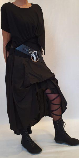 aparte rok, zwarte aparte rok, La Haine, prachtige zwarte rok, lange zwarte rok