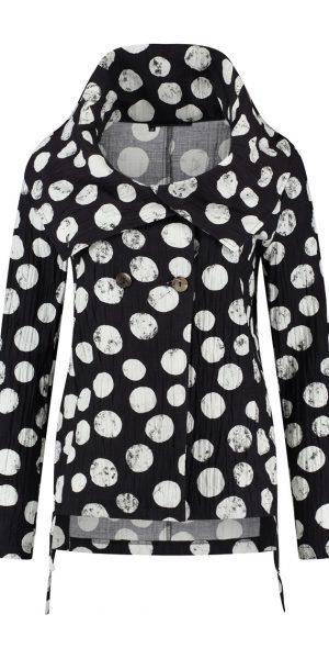 #Sjazz design#, # elsewhere#, # Blouse met dots#, # zwarte blouse met off white dots#