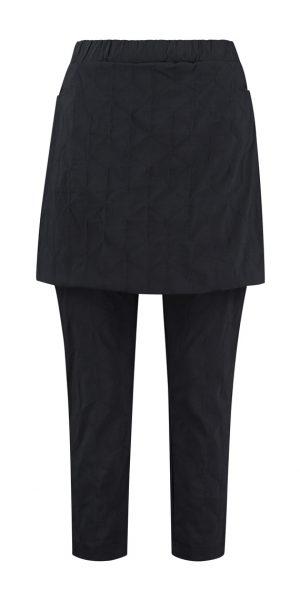 #Sjazz design#, # Elsewhere#, # zwarte broek met rok #, # zwarte zouave met overrok# , # aparte broek met rok#