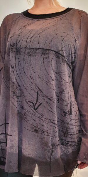 Doorzichtig bedruk shirt